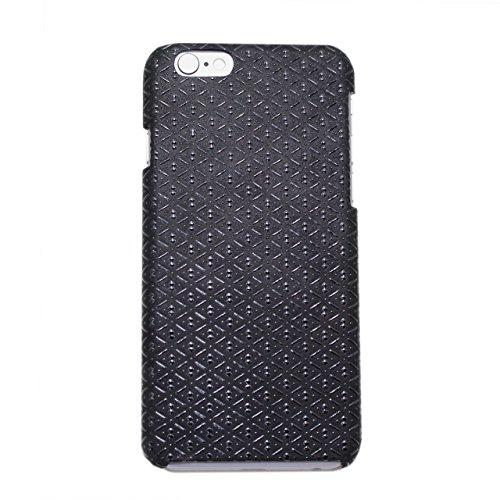 印傳屋 印伝 メンズ(男性用) レディース(レディス/女性用) 携帯電話 iPhone6 ( アイフォン ) スマホ ケース カバー 日本製 ( 国産 ) (ひょうたん(黒×黒))