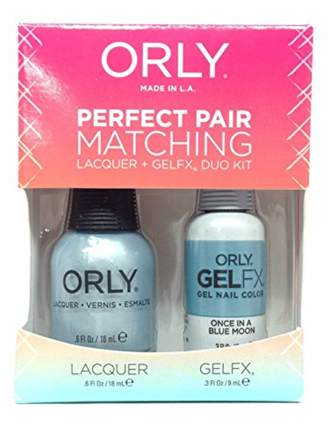 座標賞賛するジェームズダイソンOrly Lacquer + Gel FX - Perfect Pair Matching DUO Kit - Once In A Blue Moon
