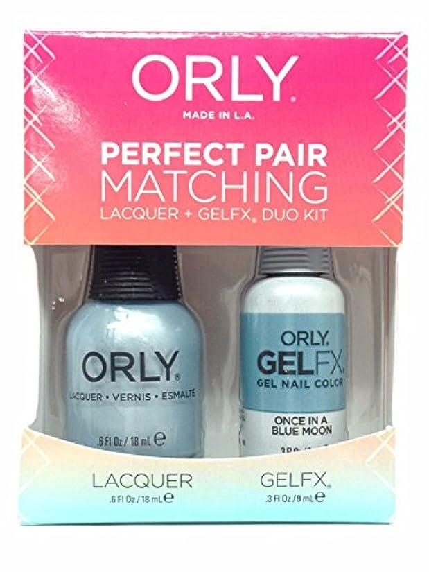 ジェーンオースティン悲観的なめらかなOrly Lacquer + Gel FX - Perfect Pair Matching DUO Kit - Once In A Blue Moon