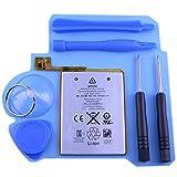 アイポッドタッチ 第5世代 電池交換セット iPhoneにも使える星形ドライバー付き 【Replacement Battery with Tool 6pcs】 for iPod touch 5th gen.