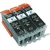 Canon(キャノン) 高品質 互換インクカートリッジ BCI-350XL ブラック3本セット 残量表示機能付 【増量タイプ】 Angelshopオリジナル (JAN:4580400480764)