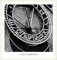 ポスター トニー クコス Pieces of Time I 額装品 ウッドベーシックフレーム(ホワイト)