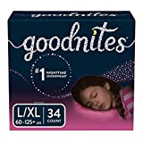 GoodNites Bedtime Bedwetting Underwear for Girls, L-XL, 34ct (Packaging May Vary)
