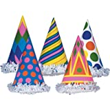 Fringed Party Hats (asstd designs) Party Accessory (1 count) by Beistle
