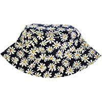 Be Your Own Style Fashion Packable Reversible Black Printed Fisherman Bucket Sun Hat, Many Patterns