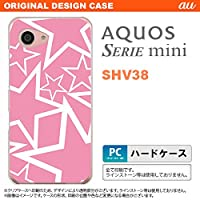 SHV38 スマホケース AQUOS SERIE mini SHV38 カバー アクオス セリエ ミニ 星 ピンク×白 nk-shv38-1118