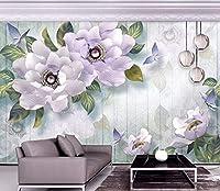 Minyose 壁紙 カスタム壁画壁紙現代の家の装飾的な宝石類の花3Dレリーフテレビの壁の背景の壁紙リビングルーム