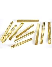 10個 76mm Lサイズ ヘアクリップ ゴールド