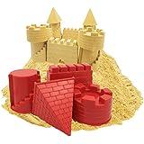 VWH Sand Castle Pail Buckets,Beach Pails,Sand Mold Pails,Red