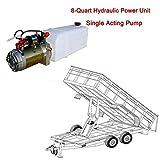 ECO-worthy 8クォーツ12V電動モーター油圧ポンプパワーユニットパック単動リフト