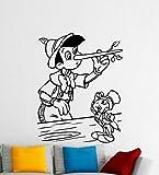 Pinocchio壁デカールDisney Cartoonsリムーバブル防水ビニールステッカー保育園壁アートTeen子供部屋壁装飾壁画( 226a )