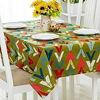 長方形のテーブルの汚れ防止テーブルクロス、 北欧モダンミニマリズム 卓上装飾 家庭 テーブルカバー-E-140×140センチメートル(55×55インチ)
