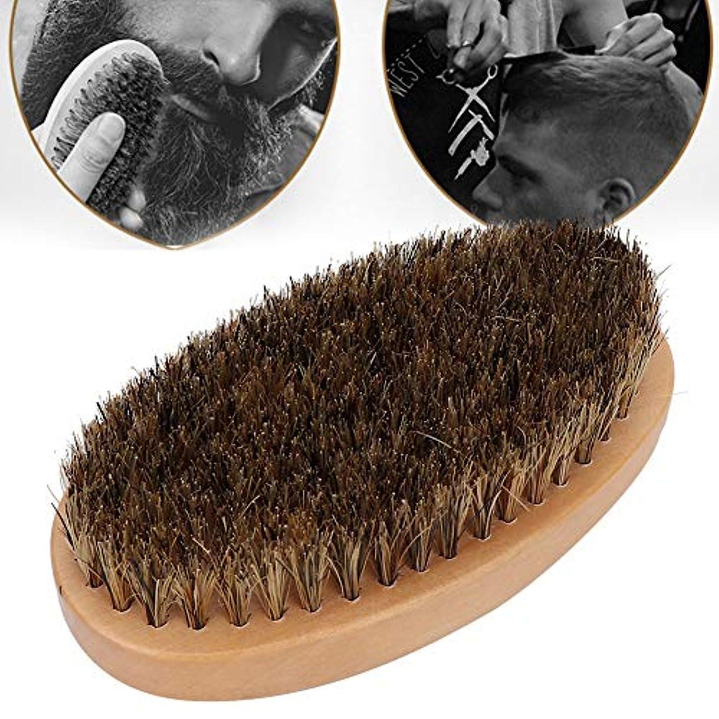 ソーセージ鰐バング男性用の壊れた髪の掃除ひげブラシヘアコーム, 男性用のプロの壊れた髪抜本的なひげブラシヘアコーム理髪くし