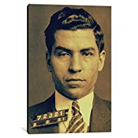iCanvasART 1 Piece Charlie 'Lucky' Luciano-Gangster Mugshot Canvas Print by Kitsch Opus, 0.75 x 12 x 18-Inch [並行輸入品]