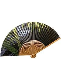 扇子 高級絵付扇子 日本製 唐木中彫 香り付き 507:竹