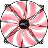 AeroCool エアロクール PCケースファン Silent Master 20cm 赤色LED搭載 レッド EN55659