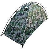 屋外のキャンプのためのMHKBD-JP 1人の迷彩のテント キャンプテント (色 : Camouflage)