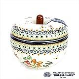 [Zakłady Ceramiczne Boleslawiec/ザクワディ ボレスワヴィエツ陶器]リンゴのポット12.5cm-du118 (ポーリッシュポタリー)