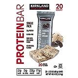 KIRKLAND SIGNATURE(カークランド) PROTEIN BAR プロテインバー Chocolate peanut butter chunk (チョコレート ピーナッツバター チャンク) & Cinnamon Roll (シナモンロール) 合計 20個