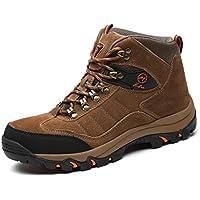 [HSFEO] トレッキングシューズ メンズ/レディース 登山靴 ハイキングシューズ 防滑 衝撃吸収 つま先保護 撥水性 厚底 耐久性 歩きやすい 柔らか 蒸れない クッション性 山歩き/仕事用/アウトドア