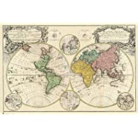 French Map - Vintage 1746 Poster - 61x91.5cm