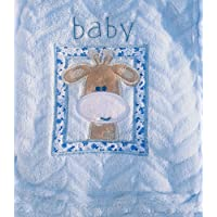 Snugly Baby Embroidered Giraffe Ultra Soft Blanket ~ Blue by Snugly Baby