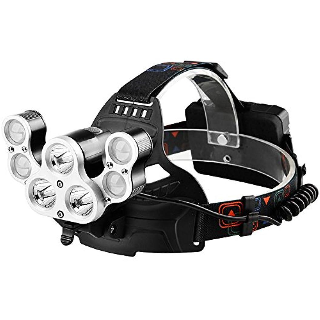 テスピアン飲食店切るLEDヘッドライトスーパー明るい光防水屋外狩猟鉱山のランプ発光キャッチ釣り7核ハイパワーヘッドライト、変形可能な探索灯