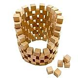 Gallon's 木製キューブ積み木 100個セット 原木 無着色