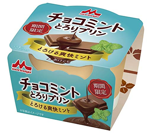 .森永乳業 チョコミント とろりプリン 75g×10個入×3ケース:合計30個 【要冷蔵】【クール便】[HF]