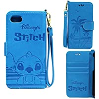 iphone8 iphone7 ケース ディズニー 手帳 かわいい 手帳型 アイフォン8 アイフォン7 ディズニー7 スティッチ スマホケース かわいい 耐衝撃 カード プレゼント 誕生日 (スティッチ) [並行輸入品]