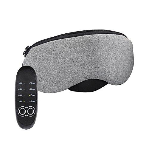 Flinelife ホットアイマスク USB 電熱式 蒸気アイマスク 繰り返し 疲れ目 安眠 遮光 洗える タイマー設定 4段階温度調節機能 (合成皮革+無味)