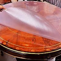 テーブルクロス、 PVC透明プラスチック円形テーブルクロス、テーブルクロス、 防水、 防汚、 簡単に清掃して、 1.5mmの厚さ、 レストランでは、 カフェ、 ホテル (サイズ さいず : Diameter 110 cm)
