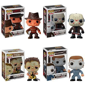 Funko POP! Horror Movies - Vinyl Figures - SET OF 4 (Freddy Jason Michael Myers & Leatherface)