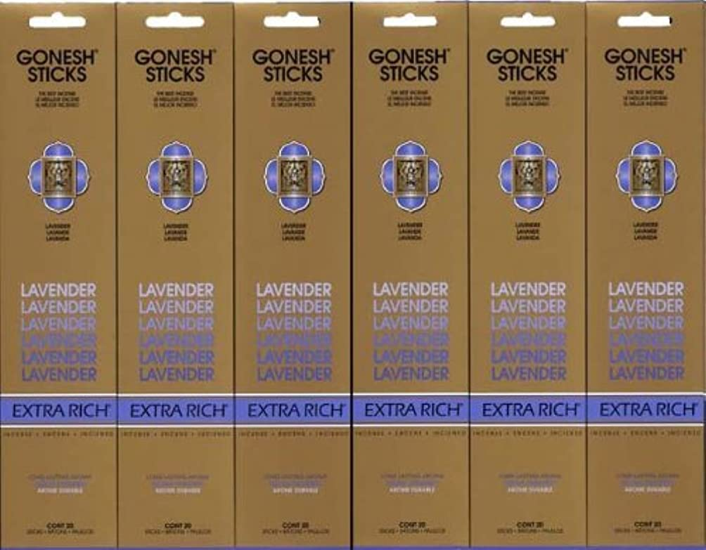 一般的にトロリーイライラするGONESH LAVENDER ラベンダー スティック 20本入り X 6パック (120本)