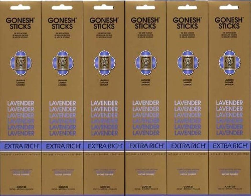 ジョットディボンドン表面致命的GONESH LAVENDER ラベンダー スティック 20本入り X 6パック (120本)