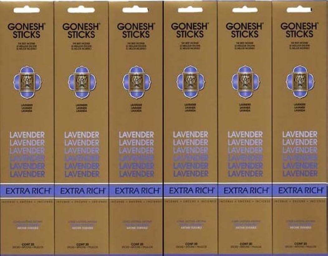 クロニクルアーティスト同情GONESH LAVENDER ラベンダー スティック 20本入り X 6パック (120本)
