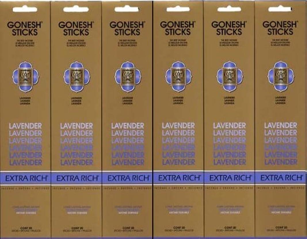 署名防止背が高いGONESH LAVENDER ラベンダー スティック 20本入り X 6パック (120本)