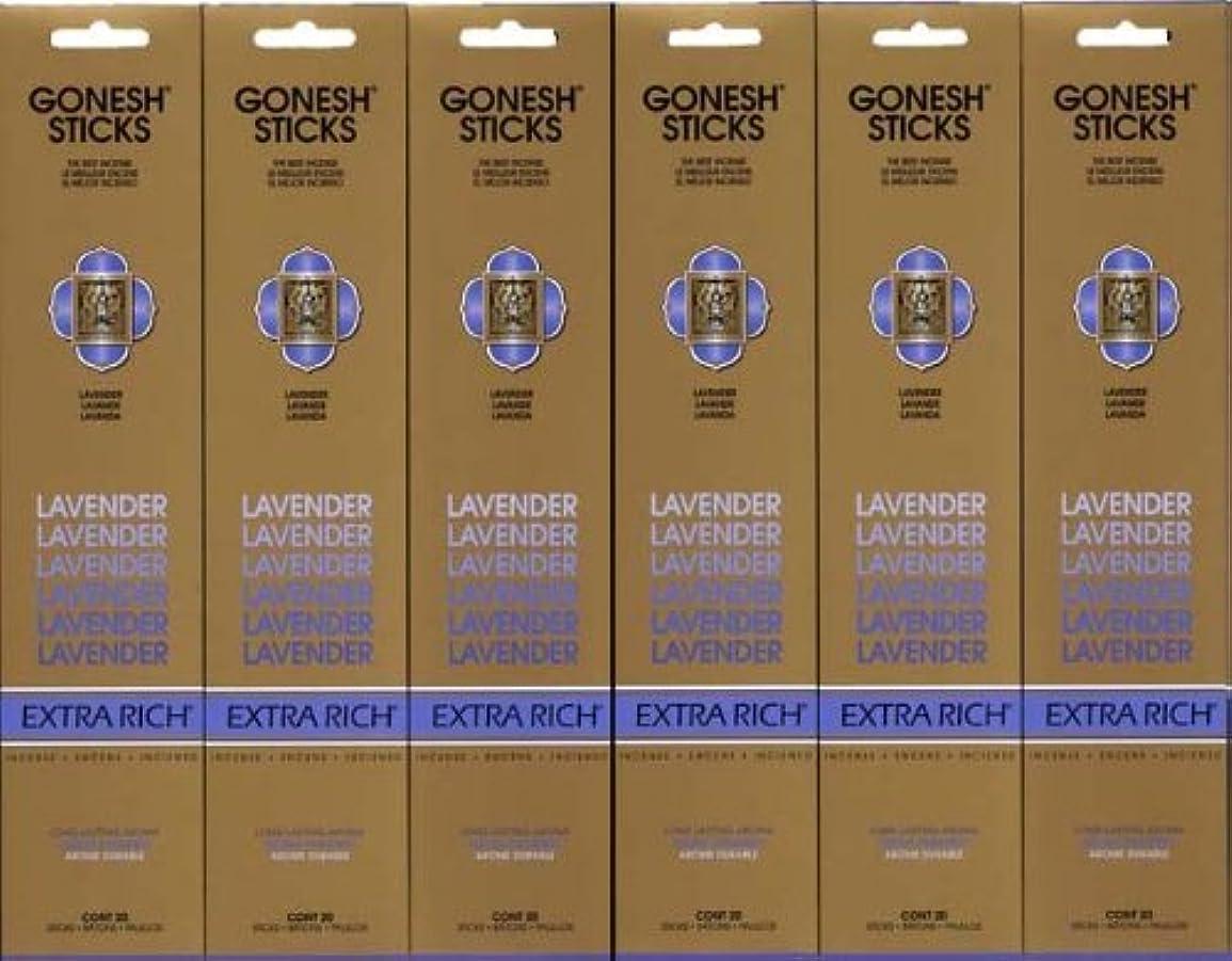 廃棄肌アスリートGONESH LAVENDER ラベンダー スティック 20本入り X 6パック (120本)