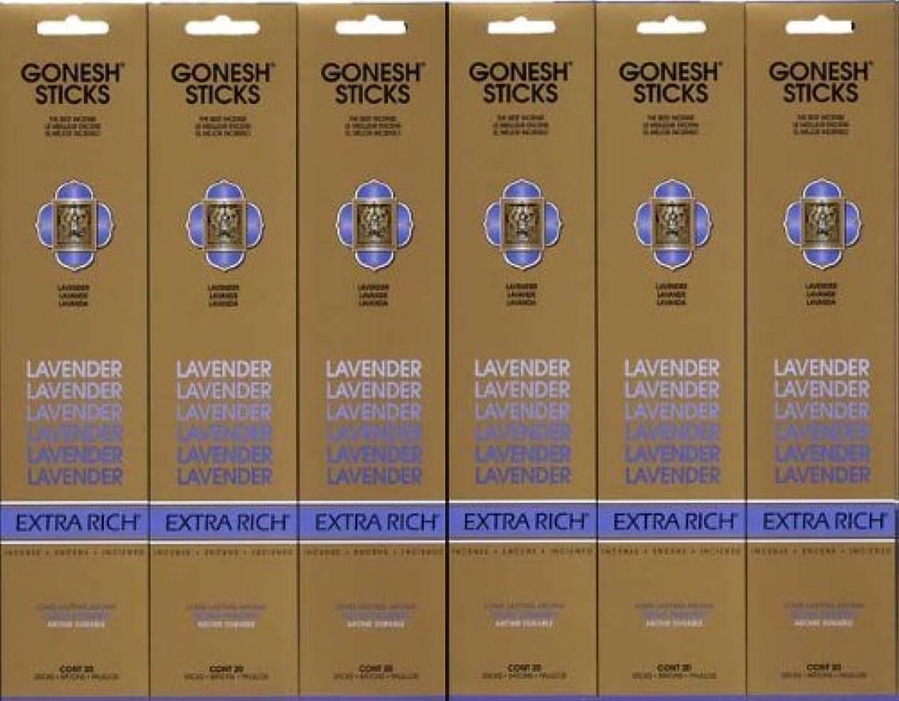 昆虫びん慣性GONESH LAVENDER ラベンダー スティック 20本入り X 6パック (120本)