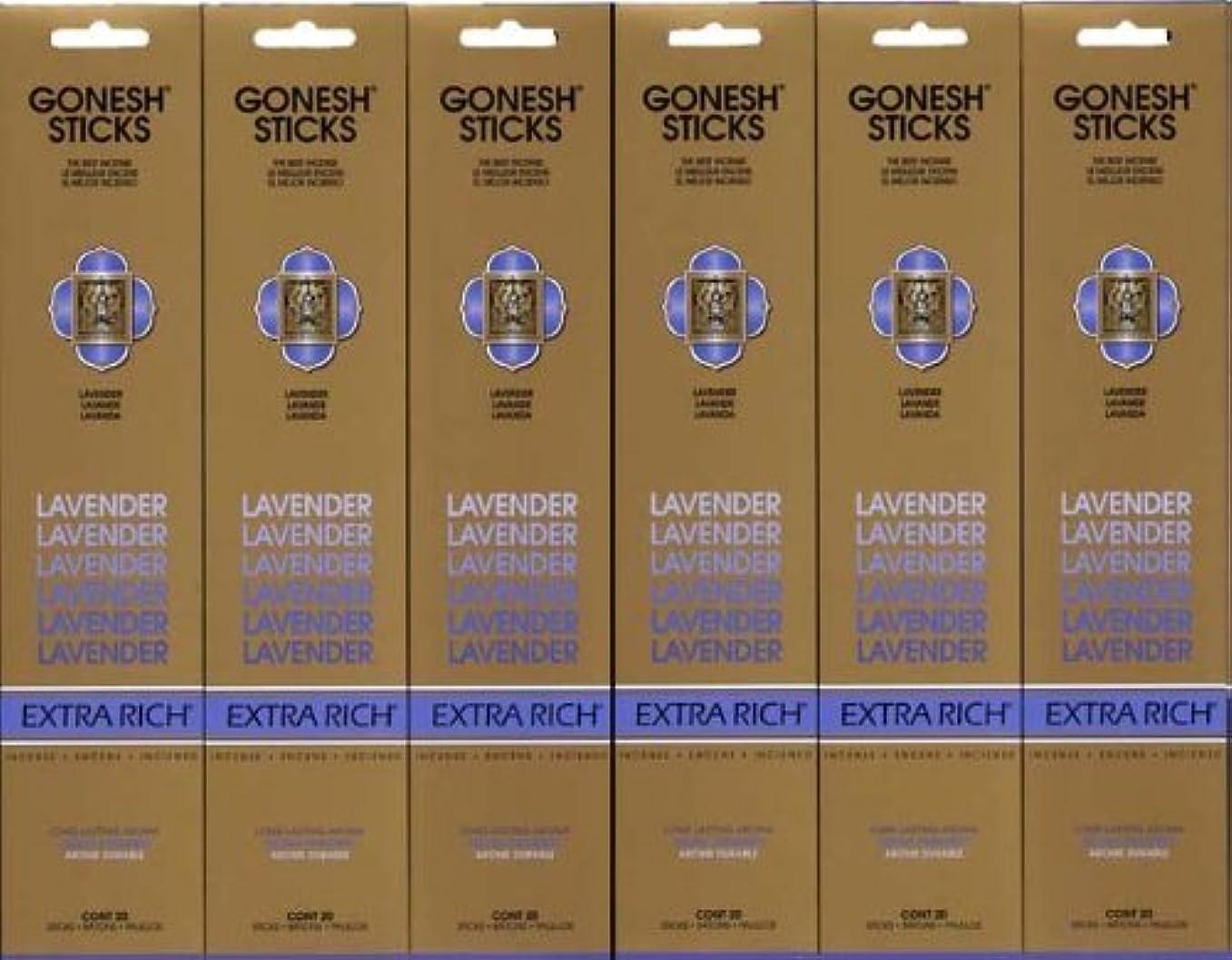 経過隠す悲しいことにGONESH LAVENDER ラベンダー スティック 20本入り X 6パック (120本)