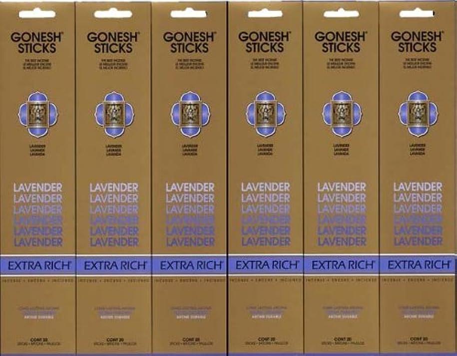ペンダント釈義新鮮なGONESH LAVENDER ラベンダー スティック 20本入り X 6パック (120本)