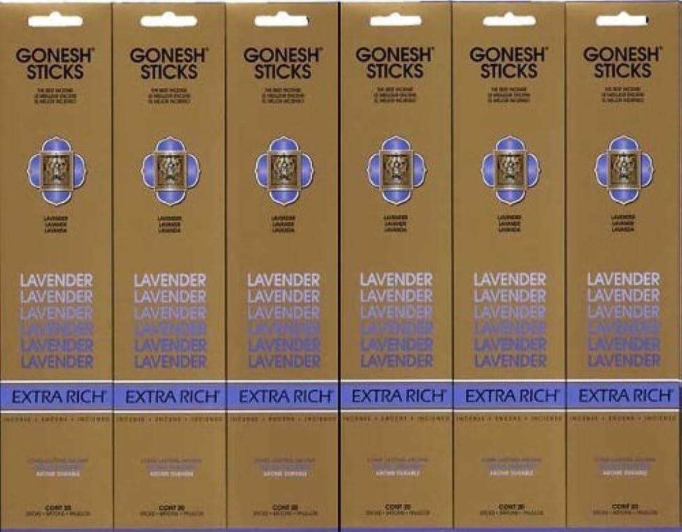 オーバーヘッドお香消去GONESH LAVENDER ラベンダー スティック 20本入り X 6パック (120本)
