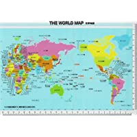 B5 下敷き 世界地図 学用品