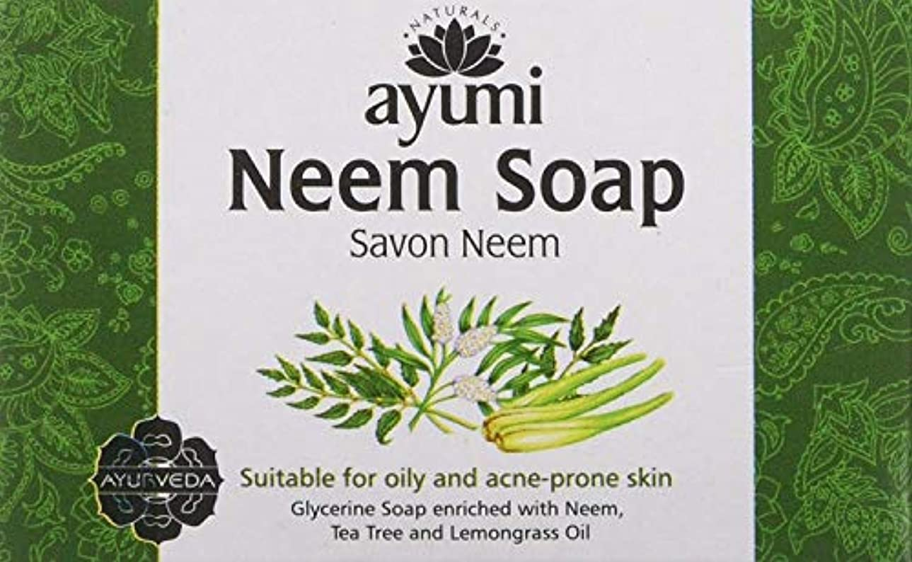 電気せっかち付属品Ayuuri Ayurvedic Herbal Natural Neem Soap 100g by Ayuuri