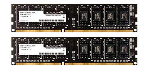 Team デスクトップ用メモリ DDR3 1333MHz PC3-10600 永久保証 ECOパッケージ (2GBx2枚(4GBkit))