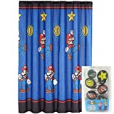 おもちゃ Super Mario マリオ Shower Curtain and Rings Set Simply Best Bath [並行輸入品]