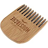 Baosity 木製櫛 ひげ櫛 ヘアブラシ ヘアコーム 桃の木  静電気防止 ユニセックス 便利