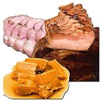 北海道産豚肉使用! 豚肉の煮物 3種セット 600g (角煮【煮豚】 200g ・大黒家【焼豚】 200g ・毘沙門【焼豚】 200g)