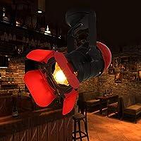 パーフェクト アメリカのレトロなメタルカメラシャンデリアレストランリビングルームカフェバー主導スポットライトウォールランプシーリングランプ赤黒20x32cm ホーム