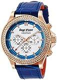 [エンジェルクローバー]Angel Clover 腕時計 リュクスマスター ホワイト文字盤 クロノグラフ スワロフスキー LM46PBZ-BU メンズ